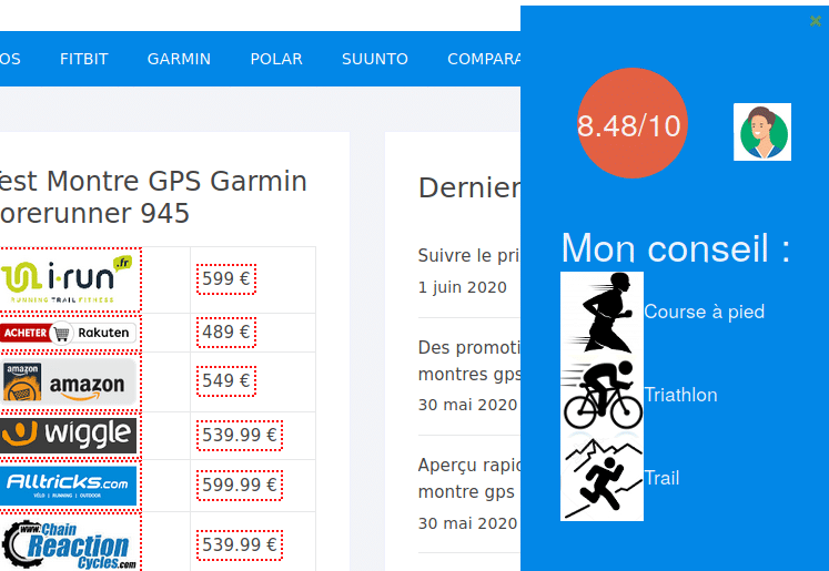 Conseil montre GPS